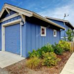 Пример голубого красивого дома