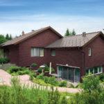 Пример красивого дизайна бордового дома
