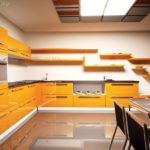 Пример красивого дизайна оранжевой квартиры