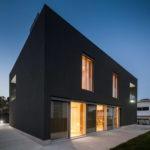 Пример оформления дизайна черного дома