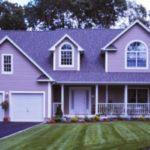 Пример оформления дизайна фиолетового дома