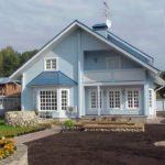 Пример современного дизайна дома в синем цвете