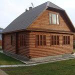 Пример современного дизайна коричневого дома