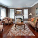 Привлекательный дизайн коричневой квартиры