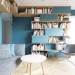 Приятный дизайн бирюзовой квартиры