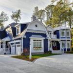Приятный и красивый дизайн дома синего цвета