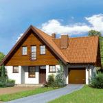 Проект дизайна дома белого цвета