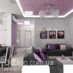 Проект дизайна фиолетовой квартиры
