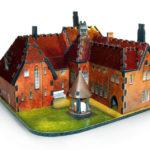 Проект дома красного цвета с красиым дизайном