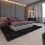 Просторная кавартиры серого цвета с красивым дизайном