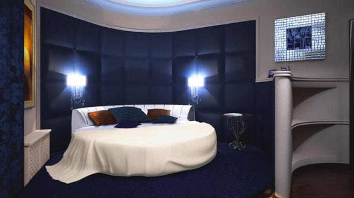 Шикарный дизайн синей квартиры