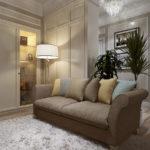 Современная квартира с дизайном в бежевом цвете