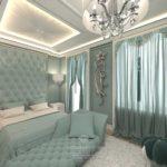 Современный дизайн квартиры в бирюзовом цвете