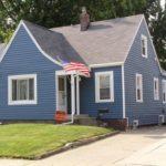 Современный дизайн синего дома