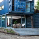 Современный вариант дизайна дома в синем цвете