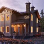 Создаем дизайн коричневого дома