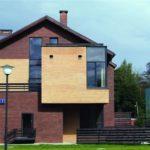 Стильный дизайн бордового дома