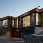 Стильный дизайн черного дома