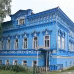Стильный дизайн голубого частного дома