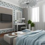 Стильный дизайн голубой квартиры