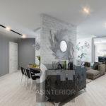 Стильный дизайн серой квартиры