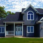 Стильный дизайн синего дома