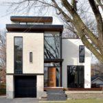 Стильный дом белого цвета