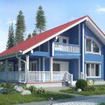 Стильный красивый дом с ярким дизайном