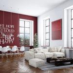 Стильный оформление дизайна бордовой квартиры