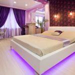 Светлый дизайн фиолетовой квартиры