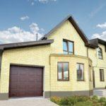 Светлый дизайн желтого дома