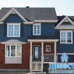 Свежий дизайн синего дома