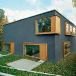 Темно-серый оригинальный дизайн частного дома