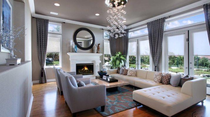 Уютный дизайн серой квартиры
