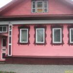 Нежный дизайн розового дома