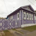 Уютный стиль кантри фиолетового дома