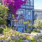 Вариант дизайна дома в голубом цвете