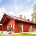Вариант дизайна красного дома