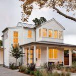 Вариант дизайна современного белого дома