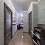 Вариант красивого дизайна серой квартиры
