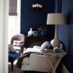 Вариант красивого дизайна синей квартиры