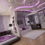 Вариант современного дизайна квартиры в бордовом цвете