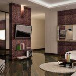 Вариант создания дизайна квартиры в коричневом цвете