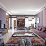 Вариация дизайна фиолетовой квартиры