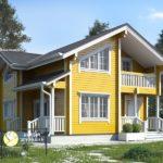 Выбираем дизайн для желтого дома
