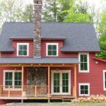 Яркий дизайн бордового дома