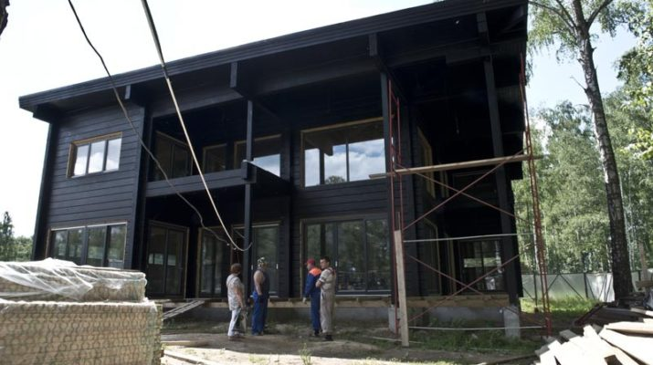 Яркий дизайн черного дома