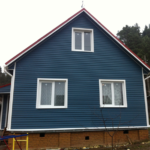 Яркий дизайн синего дома