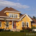 Желтый цвет дома