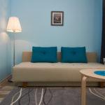 Загадочный дизайн голубой квартиры